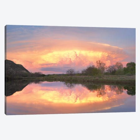 Storm Clouds Over South Llano River, South Llano River State Park, Texas I Canvas Print #TFI1034} by Tim Fitzharris Canvas Art Print