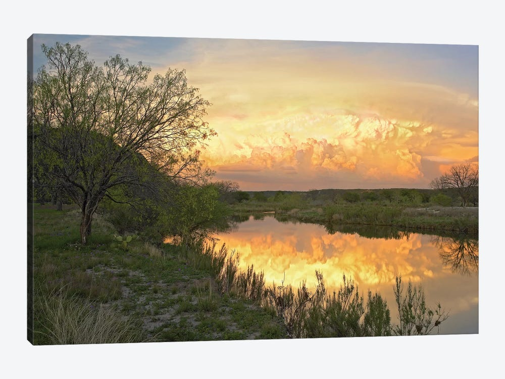 Storm Clouds Over South Llano River, South Llano River State Park, Texas II by Tim Fitzharris 1-piece Canvas Wall Art