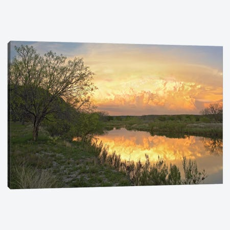 Storm Clouds Over South Llano River, South Llano River State Park, Texas II Canvas Print #TFI1036} by Tim Fitzharris Canvas Print