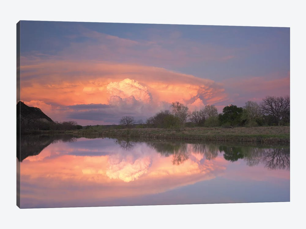Storm Clouds Over South Llano River, South Llano River State Park, Texas III by Tim Fitzharris 1-piece Canvas Print
