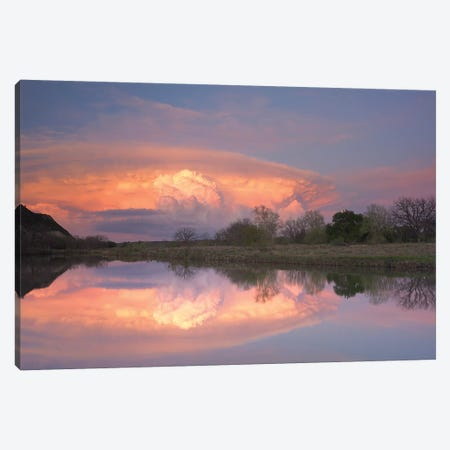 Storm Clouds Over South Llano River, South Llano River State Park, Texas III Canvas Print #TFI1037} by Tim Fitzharris Canvas Print