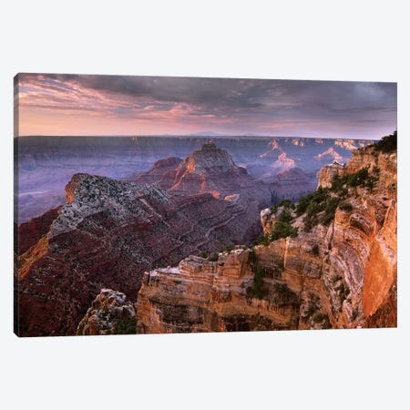 Stormy Skies Over Vishnu Temple, Grand Canyon National Park, Arizona Canvas Print #TFI1039} by Tim Fitzharris Canvas Art
