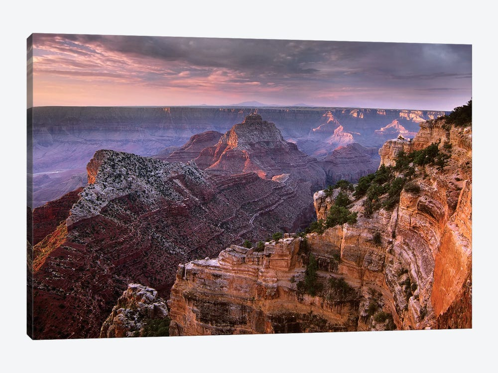 Stormy Skies Over Vishnu Temple, Grand Canyon National Park, Arizona by Tim Fitzharris 1-piece Canvas Print