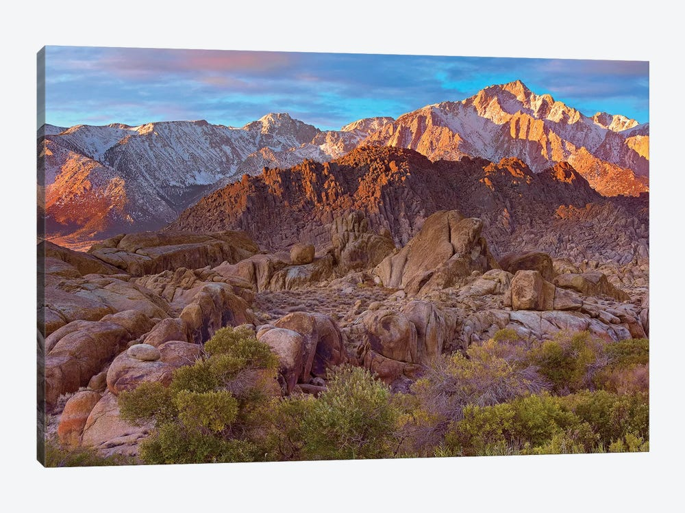 Sun Illuminating The Alabama Hills, California by Tim Fitzharris 1-piece Canvas Wall Art