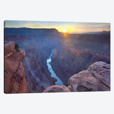 Sunrise As Seen From Toroweap Overlook, Grand Canyon National Park, Arizona Canvas Print #TFI1046} by Tim Fitzharris Canvas Wall Art