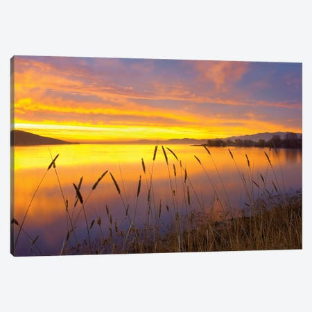 Sunrise At San Luis Reservoir, San Joaquin Valley, California Canvas Print #TFI1048} by Tim Fitzharris Canvas Print