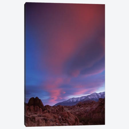 Sunrise Over The Sierra Nevada Range Seen From Alabama Hills, California Canvas Print #TFI1050} by Tim Fitzharris Canvas Artwork
