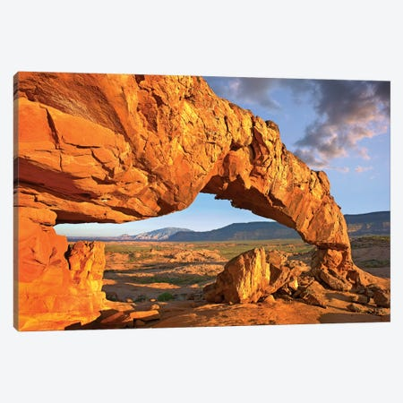 Sunset Arch, Escalante National Monument, Utah I 3-Piece Canvas #TFI1051} by Tim Fitzharris Canvas Artwork