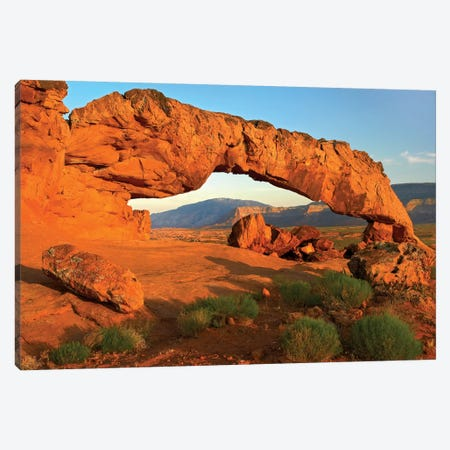 Sunset Arch, Escalante National Monument, Utah II Canvas Print #TFI1052} by Tim Fitzharris Canvas Artwork