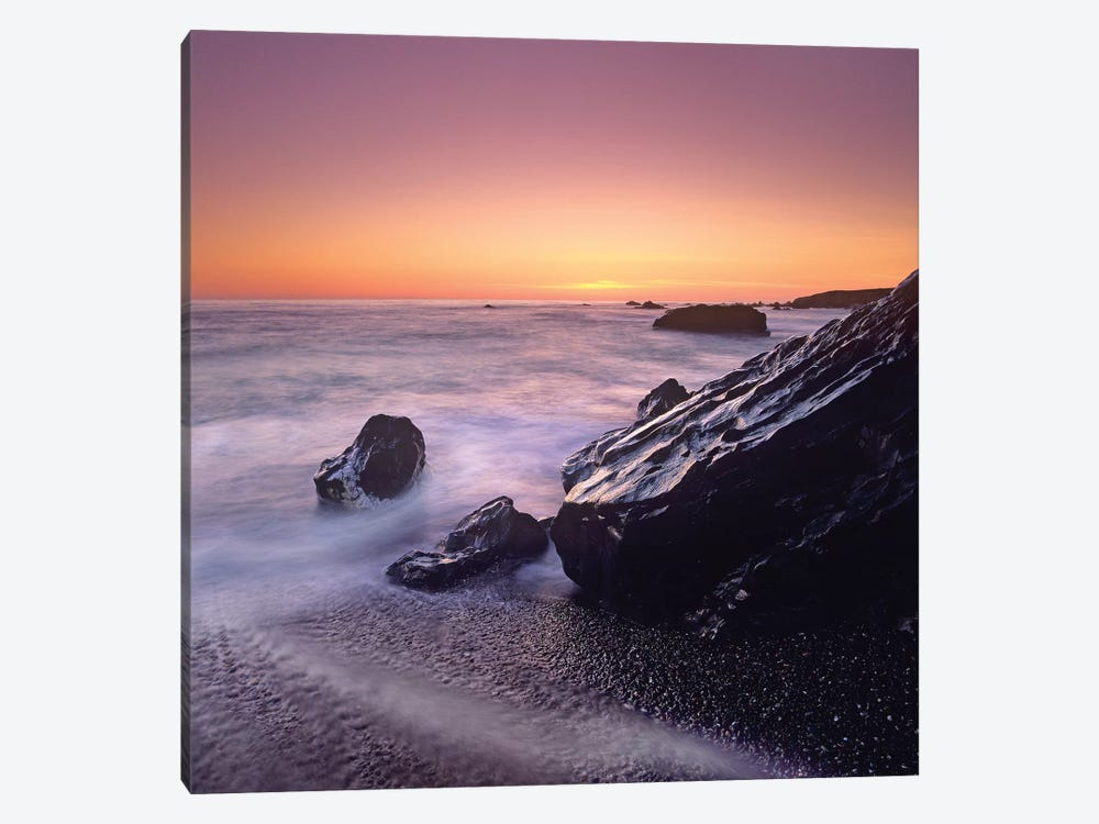 Sunset At San Simeon State Park Big Sur, California by Tim Fitzharris 1-piece Canvas Art Print