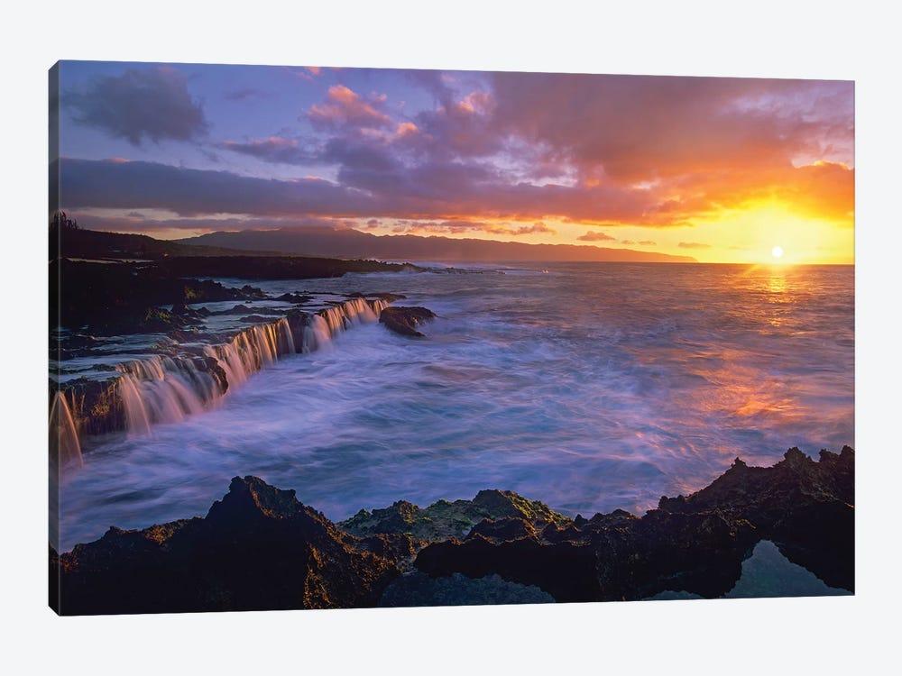 Sunset At Shark's Cove, Oahu, Hawaii by Tim Fitzharris 1-piece Canvas Artwork