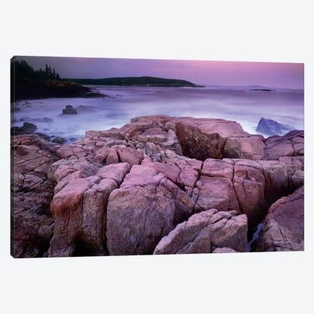 Sunset Of The Atlantic Ocean Near Thunder Hole, Acadia National Park, Maine Canvas Print #TFI1057} by Tim Fitzharris Art Print
