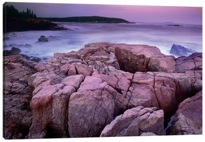 Sunset Of The Atlantic Ocean Near Thunder Hole, Acadia National Park, Maine Canvas Art Print