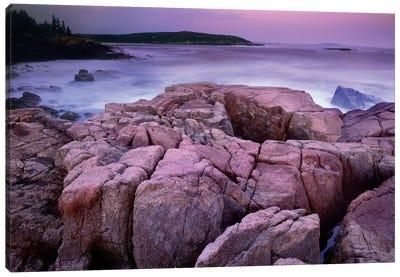 Sunset Of The Atlantic Ocean Near Thunder Hole, Acadia National Park, Maine Canvas Art Print