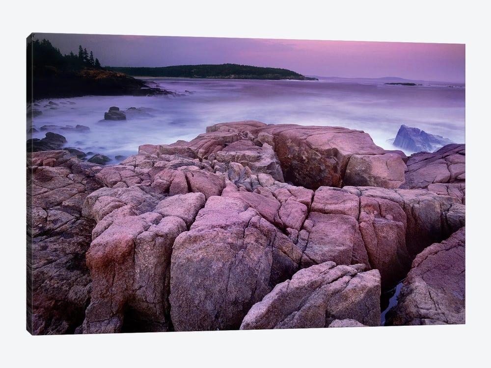 Sunset Of The Atlantic Ocean Near Thunder Hole, Acadia National Park, Maine by Tim Fitzharris 1-piece Art Print