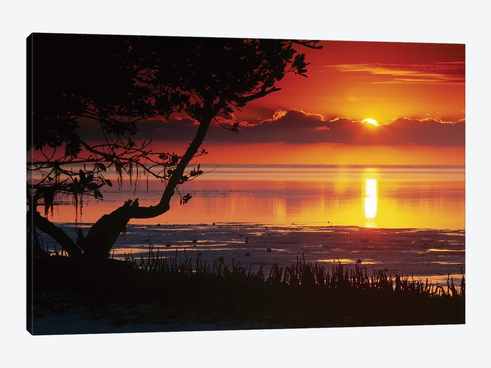 Sunset Over Anne's Beach, Florida 1-piece Canvas Art