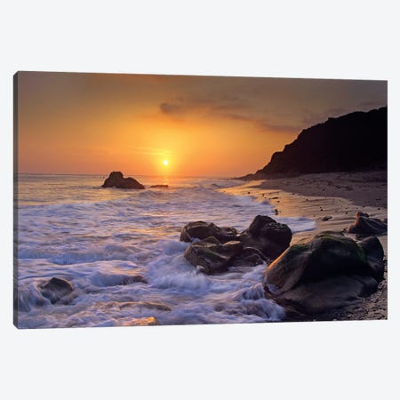 Sunset Over Leo Carillo State Beach, Malibu, California Canvas Print #TFI1060} by Tim Fitzharris Art Print