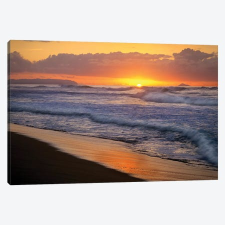 Sunset Over Polihale Beach, Kauai, Hawaii Canvas Print #TFI1063} by Tim Fitzharris Canvas Art Print