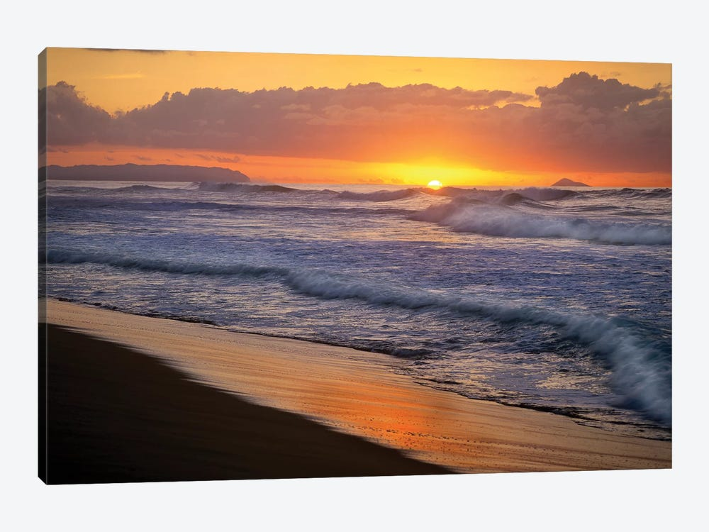 Sunset Over Polihale Beach, Kauai, Hawaii by Tim Fitzharris 1-piece Canvas Art