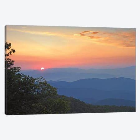 Sunset Over The Pisgah National Forest From The Blue Ridge Parkway, North Carolina I Canvas Print #TFI1065} by Tim Fitzharris Canvas Artwork