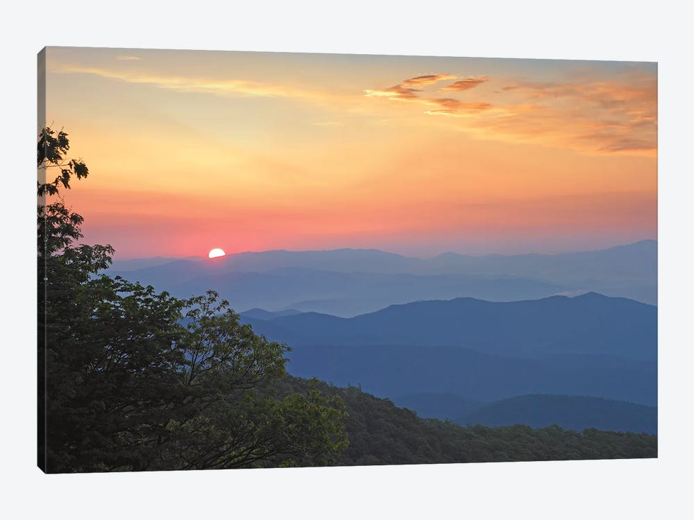 Sunset Over The Pisgah National Forest From The Blue Ridge Parkway, North Carolina I by Tim Fitzharris 1-piece Canvas Wall Art