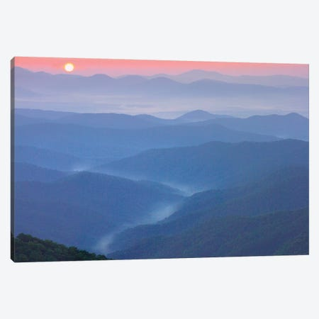 Sunset Over The Pisgah National Forest From The Blue Ridge Parkway, North Carolina II Canvas Print #TFI1066} by Tim Fitzharris Canvas Art