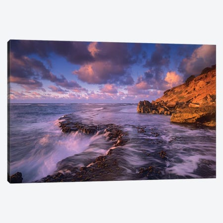 Surf Crashing On Rocks At Keoneloa Bay, Kauai, Hawaii Canvas Print #TFI1068} by Tim Fitzharris Canvas Print