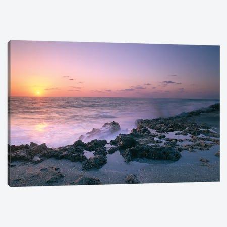 Blowing Rocks Preserve At Sunset, Jupiter Island, Eastern Florida Canvas Print #TFI106} by Tim Fitzharris Canvas Art
