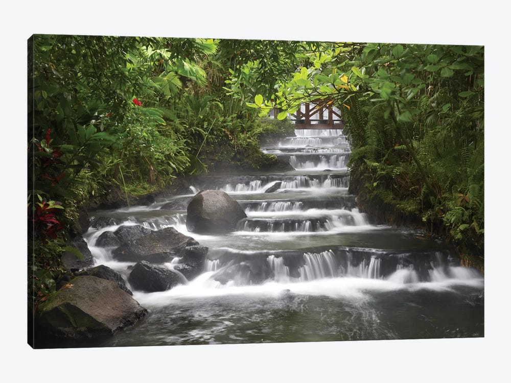Tabacon River, Cascades And Pools In The Rainforest, Costa Rica by Tim Fitzharris 1-piece Canvas Art Print