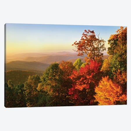 Blue Ridge Mountains From Bluff Mountain Overlook, North Carolina Canvas Print #TFI107} by Tim Fitzharris Canvas Artwork