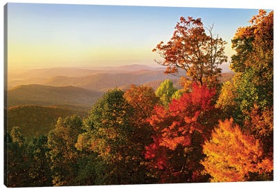 Blue Ridge Mountains From Bluff Mountain Overlook, North Carolina Canvas Art Print