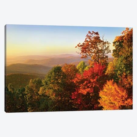Blue Ridge Mountains From Bluff Mountain Overlook, North Carolina Canvas Print #TFI107} by Tim Fitzharris Canvas Artwork