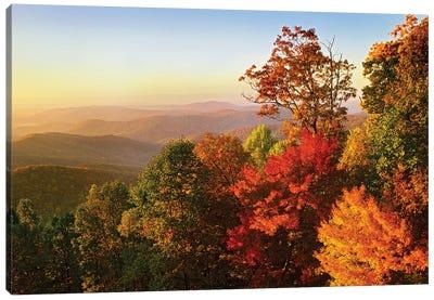 Blue Ridge Mountains From Bluff Mountain Overlook, North Carolina Canvas Art Print
