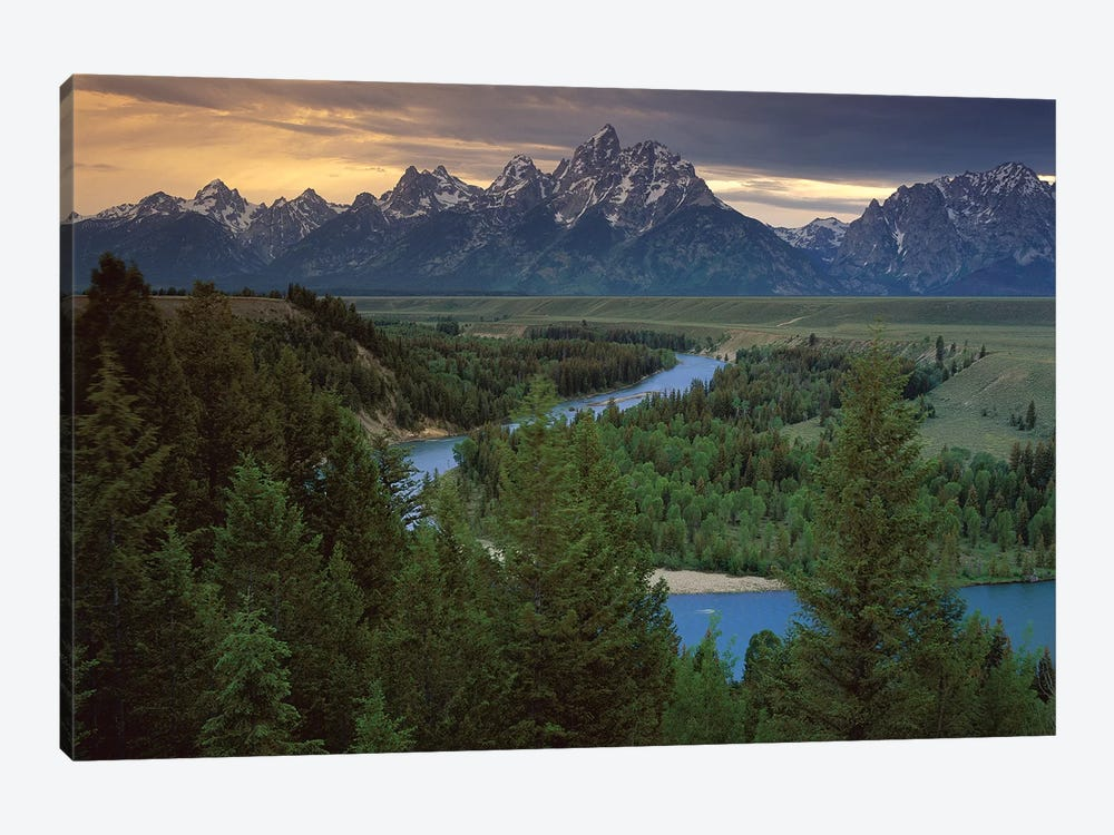 Teton Range At Snake River Overlook, Grand Teton National Park, Wyoming by Tim Fitzharris 1-piece Canvas Wall Art