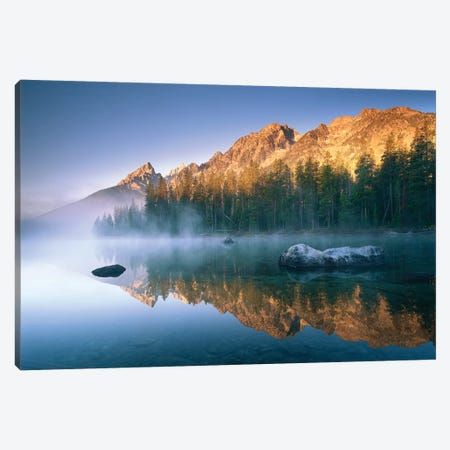 The Teton Range At String Lake, Grand Teton National Park, Wyoming Canvas Print #TFI1086} by Tim Fitzharris Canvas Wall Art