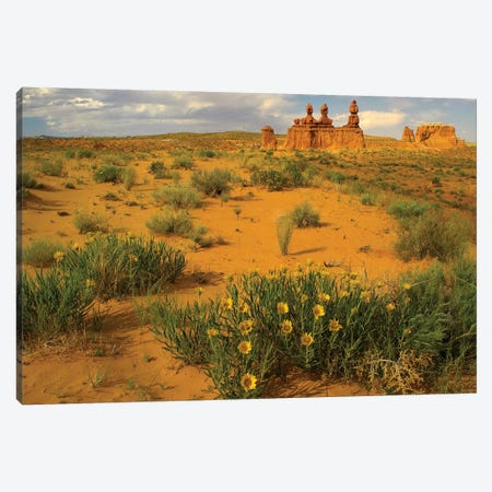 The Three Judges, Goblin Valley State Park, Utah 3-Piece Canvas #TFI1087} by Tim Fitzharris Canvas Wall Art