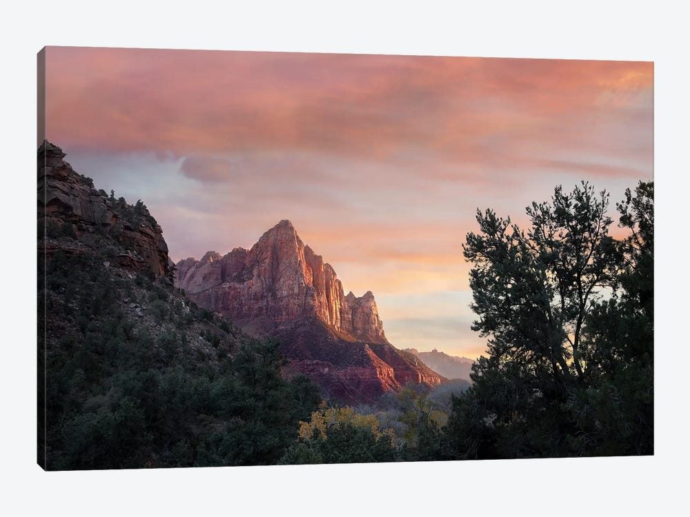 The Watchman, Zion National Park, Utah by Tim Fitzharris 1-piece Canvas Wall Art