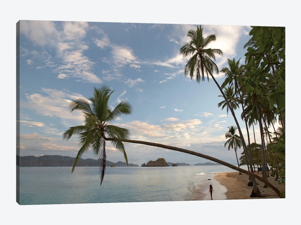 Tourist Walking Along Beach, Tortuga Island, Costa Rica by Tim Fitzharris 1-piece Art Print