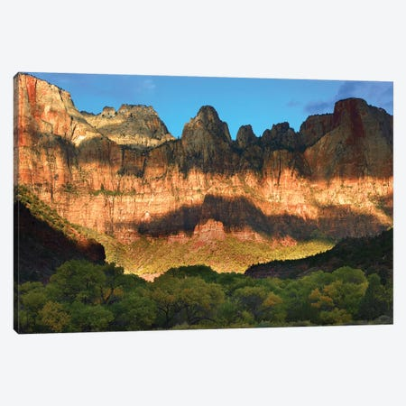Towers Of The Virgin With Cloud Shadows, Zion National Park, Utah Canvas Print #TFI1107} by Tim Fitzharris Canvas Art Print