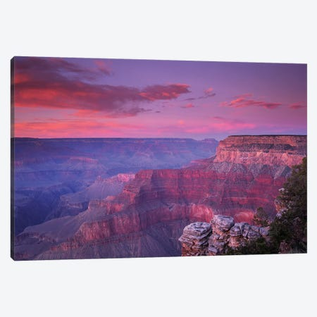 View Of The South Rim From Pima Point, Grand Canyon National Park, Arizona Canvas Print #TFI1122} by Tim Fitzharris Canvas Artwork
