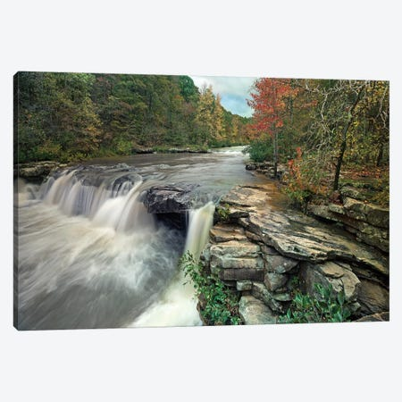 Waterfall, Mulberry River, Arkansas Canvas Print #TFI1133} by Tim Fitzharris Art Print