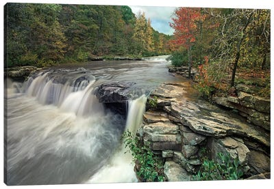 Waterfall, Mulberry River, Arkansas Canvas Art Print