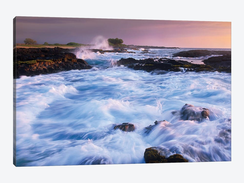 Waves And Surf At Wawaloli Beach The Big Island, Hawaii by Tim Fitzharris 1-piece Canvas Wall Art