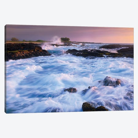 Waves And Surf At Wawaloli Beach The Big Island, Hawaii Canvas Print #TFI1137} by Tim Fitzharris Canvas Art