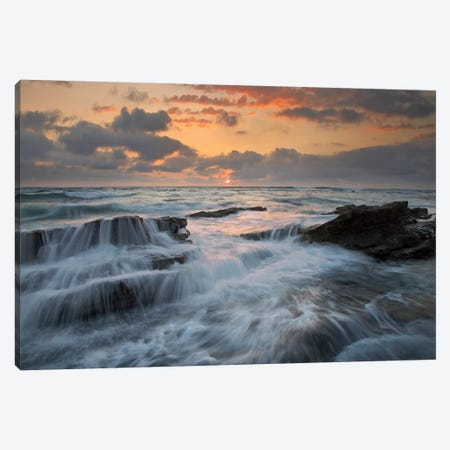 Waves Breaking On Rocks, Playa Santa Teresa, Costa Rica Canvas Print #TFI1138} by Tim Fitzharris Art Print