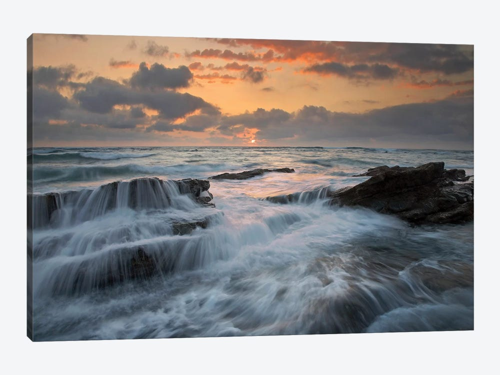 Waves Breaking On Rocks, Playa Santa Teresa, Costa Rica 1-piece Art Print