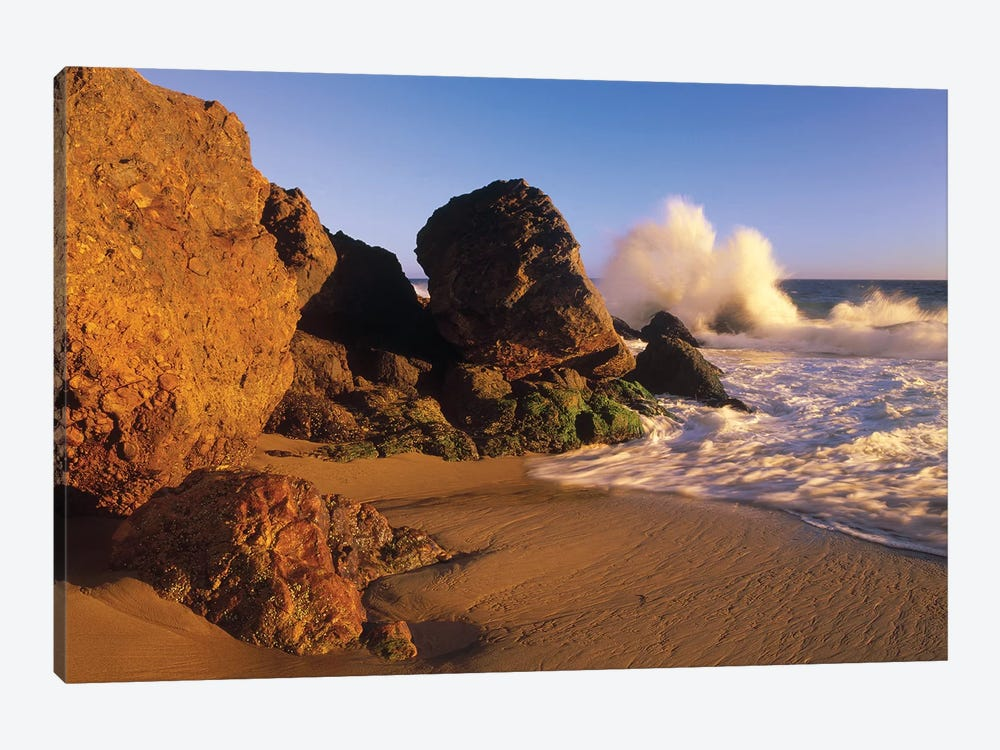 Waves Crashing On Point Dume Beach, California by Tim Fitzharris 1-piece Canvas Artwork