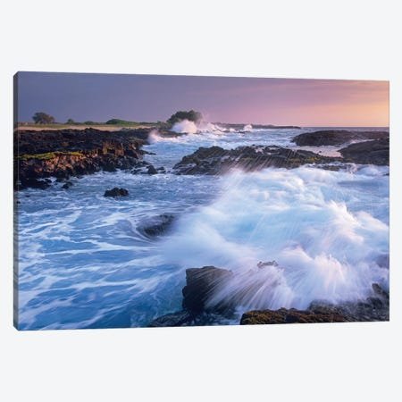 Waves Crashing On Rocky Shore, Wawaloli Beach, Big Island, Hawaii Canvas Print #TFI1140} by Tim Fitzharris Canvas Artwork