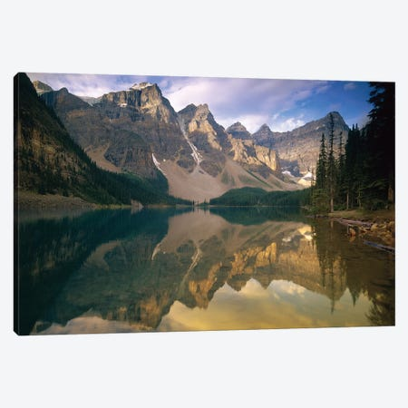 Wenkchemna Peaks And Moraine Lake, Banff National Park, Alberta, Canada Canvas Print #TFI1141} by Tim Fitzharris Canvas Artwork