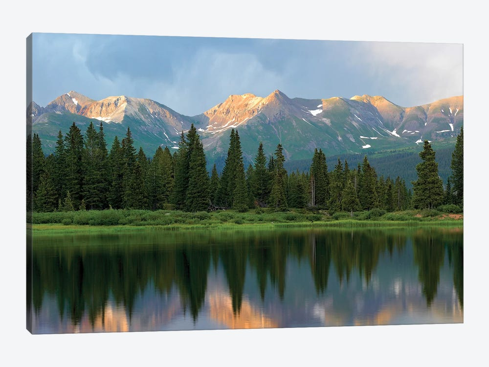 West Needle Mountains Reflected In Molas Lake, Weminuche Wilderness, Colorado by Tim Fitzharris 1-piece Canvas Print